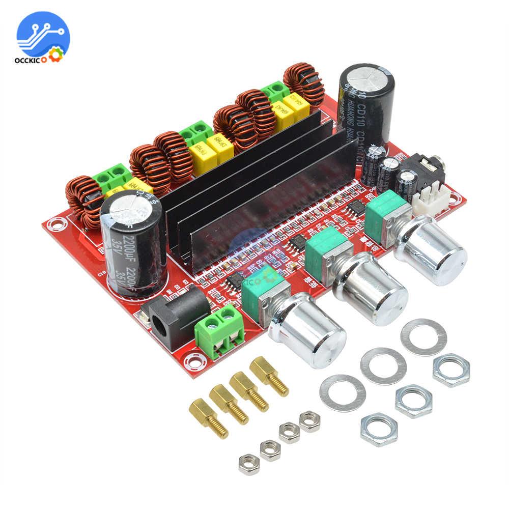 TPA3116D2 Плата усилителя двухканальный стерео высокой мощности цифровой аудио усилитель мощности 2X50W + 100W динамик звуковой модуль