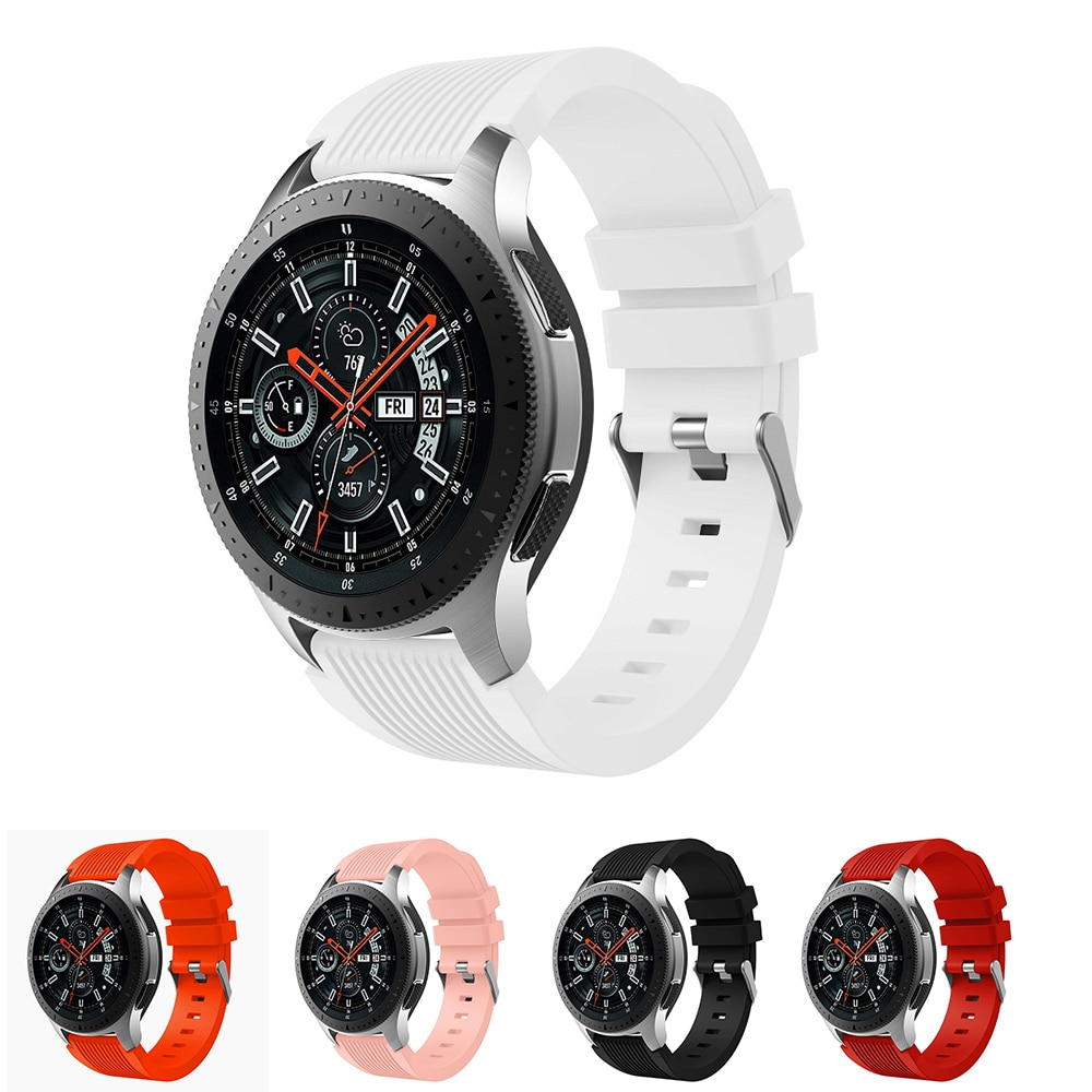 Silicone Strap 20mm 22mm Sport Replacement Watch Strap Band for Samsung Galaxy Watch 42mm and 46mm Band Strap Smart Bracelet недорого