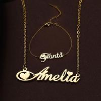 Чокер Lemegeton из нержавеющей стали для женщин, ожерелье с именем под заказ, индивидуальный подарок для девушки на день рождения индивидуальна...