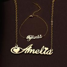 Collana con nome personalizzato girocollo in acciaio inossidabile Lemegeton per donna regalo di compleanno personalizzato per fidanzata con targhetta personalizzata
