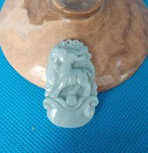 Nature Myanmar Jade sheep Amulet jadeite Pendant Chinese Zodiac Sheep Year Hanging
