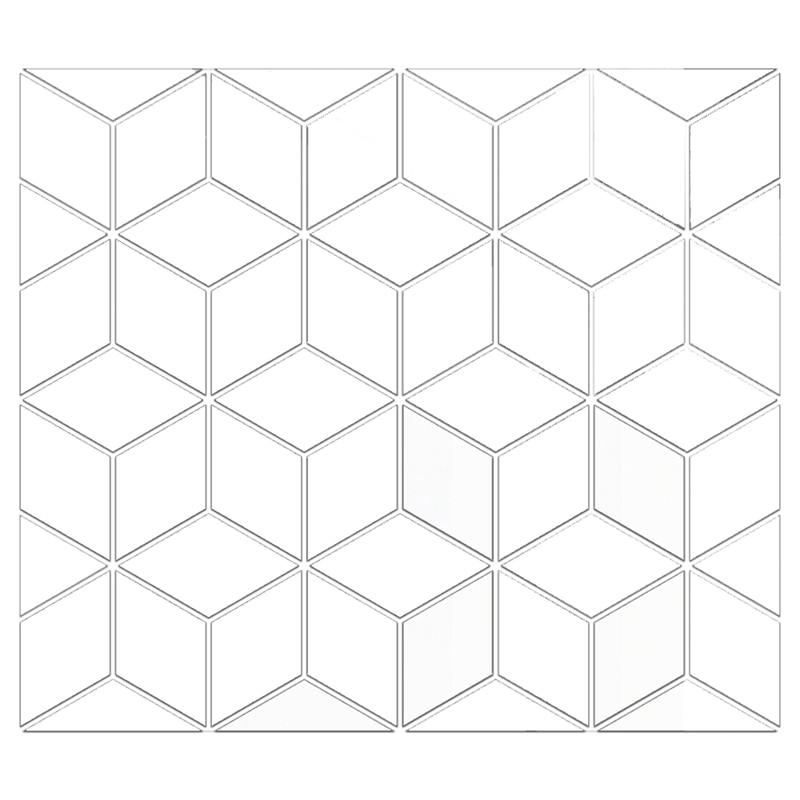 Гибкие 3D зеркальные листы 54 шт., самоклеящиеся пластиковые настенные фрески, зеркальные наклейки без стекла для украшения дома, новинка 2021