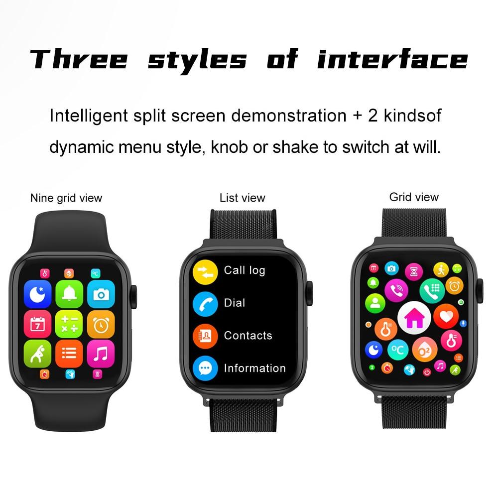 "5pcs New IWO FK75 Smart Watch Series 6 1.75""HD Infinite Screen Bluetooth Call Custom Background Heart Rate Monitor Smartwatch"