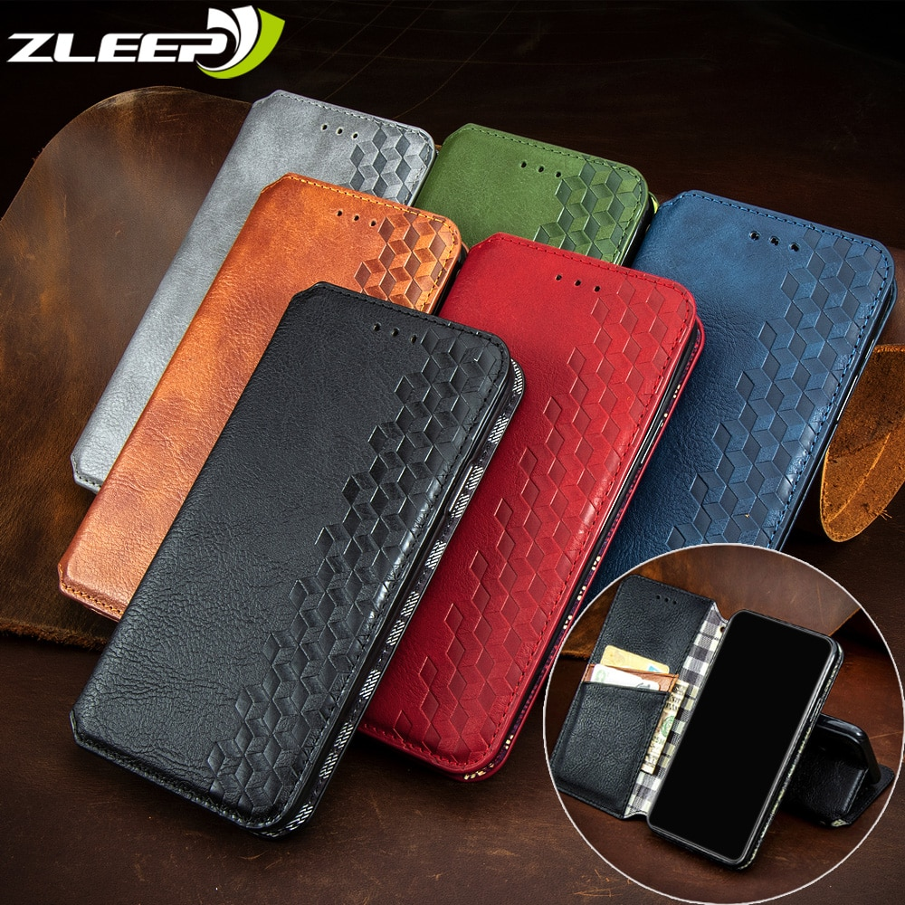 Luxury Leather Case For Xiaomi Mi Poco X3 10 T Ultra Note10 Lite Redmi 9A 9C 10X K30 Note 9 9s 8T Pr