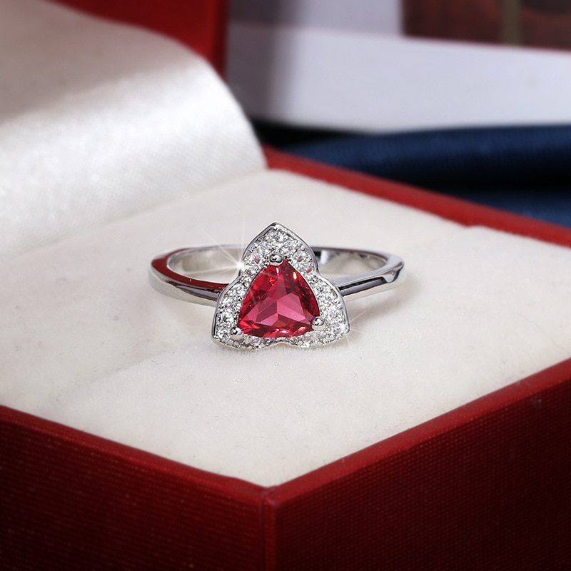 Classic Authentic Garnet Ring Solitaire 925 Sterling Silver Female Engagement Ring 925 Sterling Silver Ring Jewelry Women Rings zhhiry women jewelry sets natural red garnet gem stone genuine 925 sterling silver ring pendant chain
