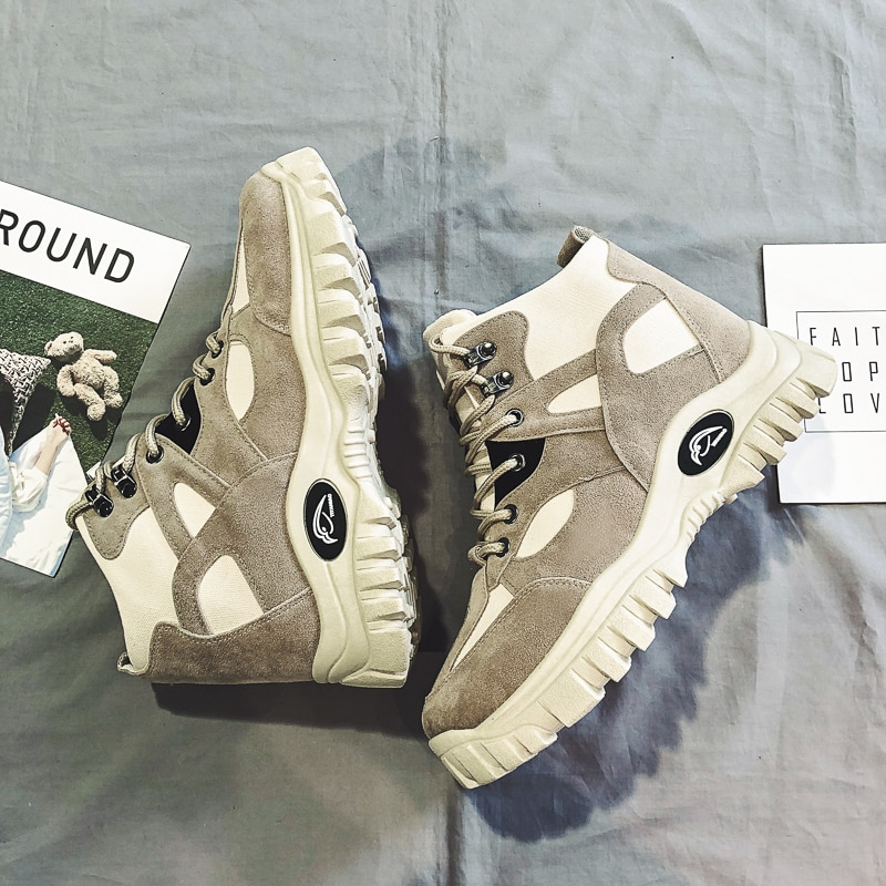 Botas militares para hombre, calzado para senderismo al aire libre, zapatillas deportivas antideslizantes para mujer, botas Martin de combate deportivo