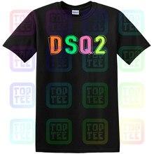 Nouvelle annonce Dsq2 noir T-Shirt homme imprimé T-Shirt unisexe taille S-3Xl