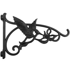 Heavy Duty Hanging Brackets,2Pcs 13Inch Hand Forged Cast Iron Wall Mount Bracket Durable Rust-Resistant Bird Hook