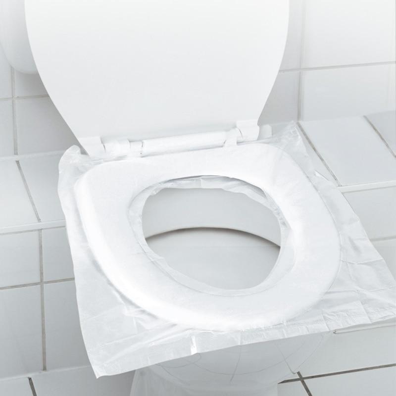 6pcs Disposable Toilet Seat Cover Plastic Business Travel waterproof toilet pad enlarge