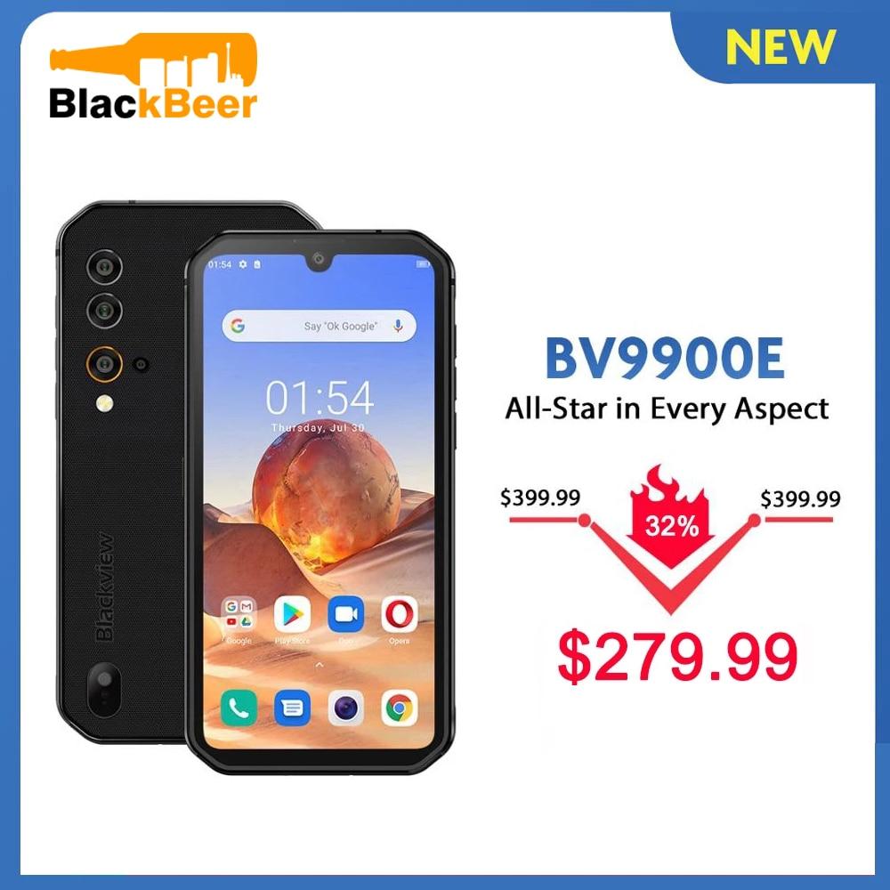 Перейти на Алиэкспресс и купить Blackview BV9900E IP68 прочный смартфон 6 ГБ + 128 Гб водонепроницаемый мобильный телефон 48MP камера Android 10 4G LTE мобильный телефон 4380 мАч NFC