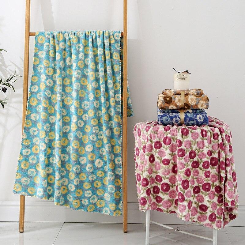 Autumn Kids Baby Bath Towel Set Baby Washcloth Coral Fleece Velvet Floral Print Square Towels Sets Family Bath Towel Baby Stuff