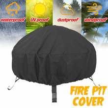 85x40cm imperméable à leau Patio foyer couverture noir UV protecteur gril barbecue abri extérieur jardin cour ronde auvent meubles couvre