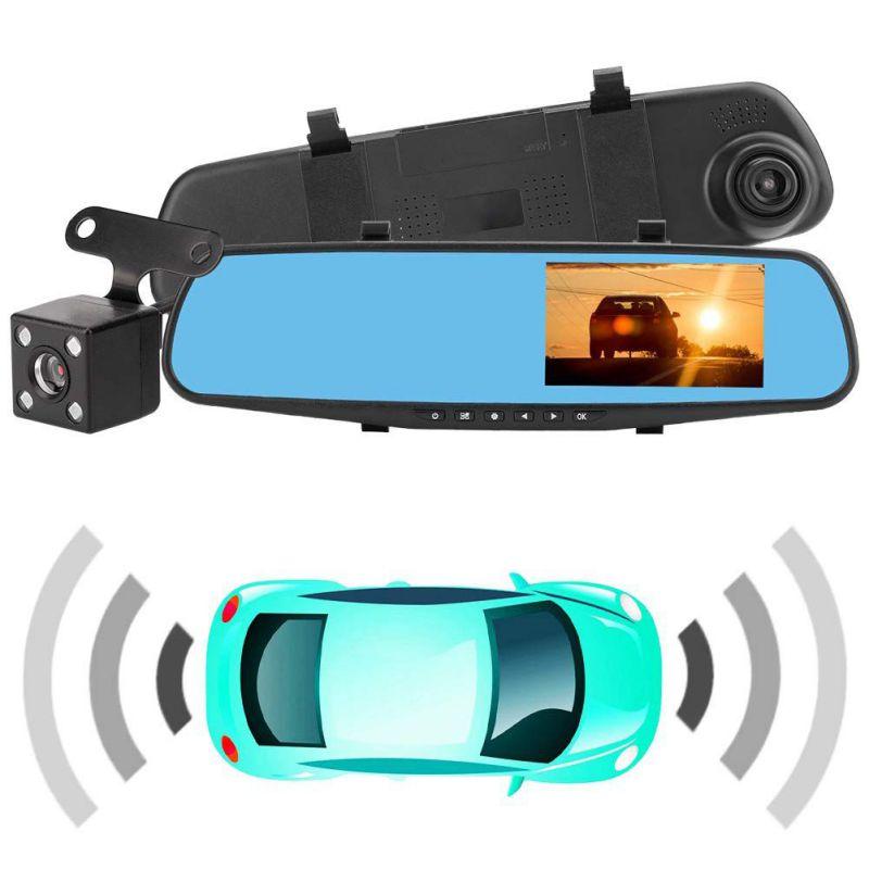 1080P carro espelho retrovisor Do Carro Dvr full HD condução do carro gravador de vídeo da câmera do reverso do carro de imagem dual lens traço visão cam Noite