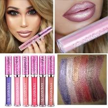 Handaiyan Diamond Pearl Lip Gloss, Mermaid Lip Gloss, Durable Color Lipstick