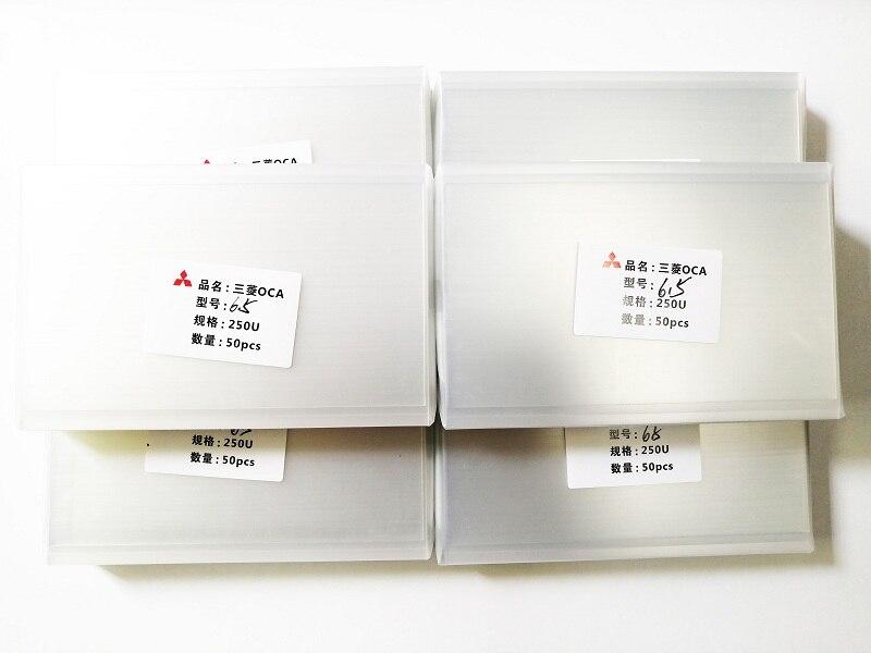 50 pçs/set tamanho universal OCA 250um para corte de telefone/almofada OCA optical cola transparente