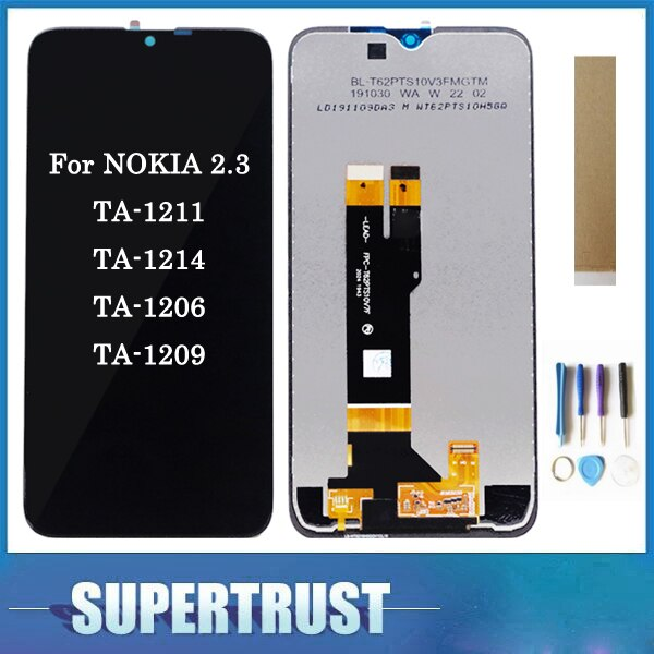 6,2 pulgadas Original para NOKIA 2,3 TA-1211 TA-1214 TA-1206 pantalla LCD con Sensor táctil montaje digitalizador de vidrio