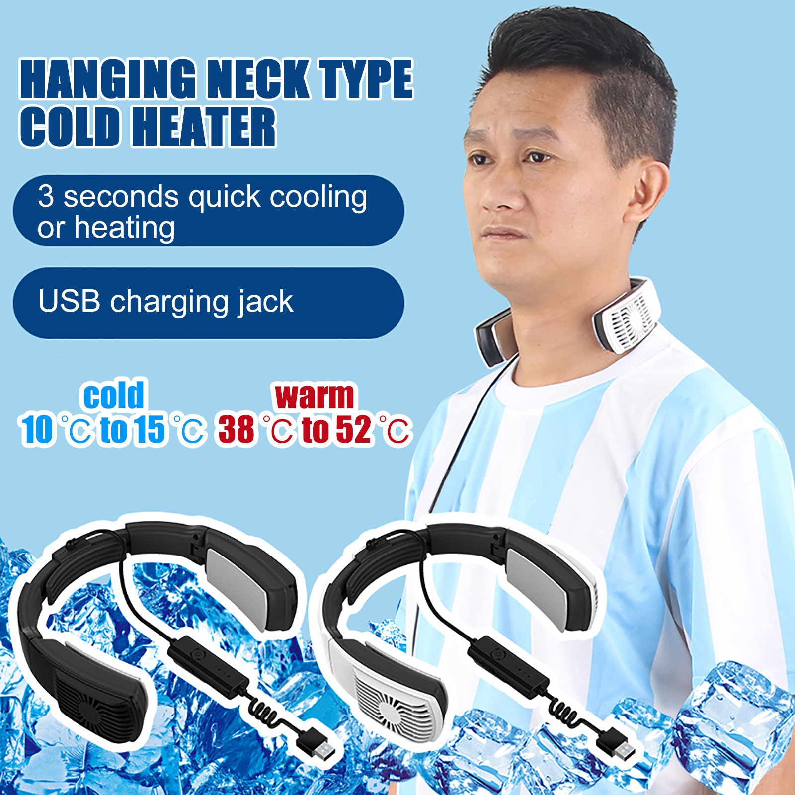 chet atkins and mark knopfler neck and neck Portable heating and cooling air conditioning wearable neck protector air conditioning neck-mounted scarf and air cooler and