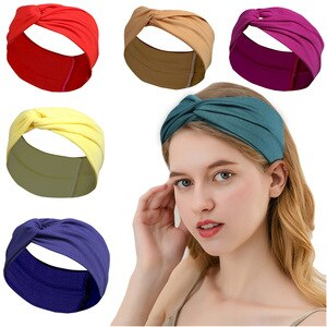 Solid Cross Headband For Women Sport Soft Sweat Hairbands Hot Selling Fashion Hair Accessories Diadema De Mujer