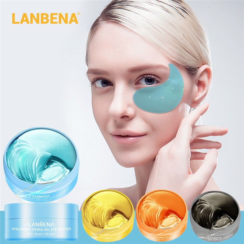 60pcs Black Pearl Eye Mask Collagen Gel Moisturizing Eye Patches Remove Dark Circles Eye Bags Anti Age Bag Eye Wrinkle Skin Care