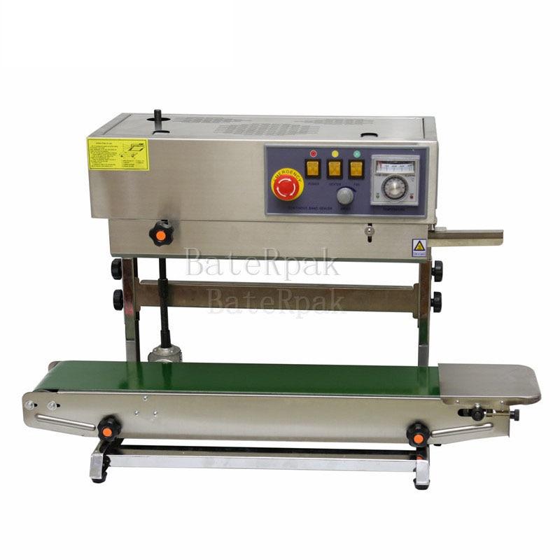 FR-770 Vertical BateRpak Continuous band sealer,stainless steel heat sealing machine(220V/50Hz)Plastic bag Welders недорого