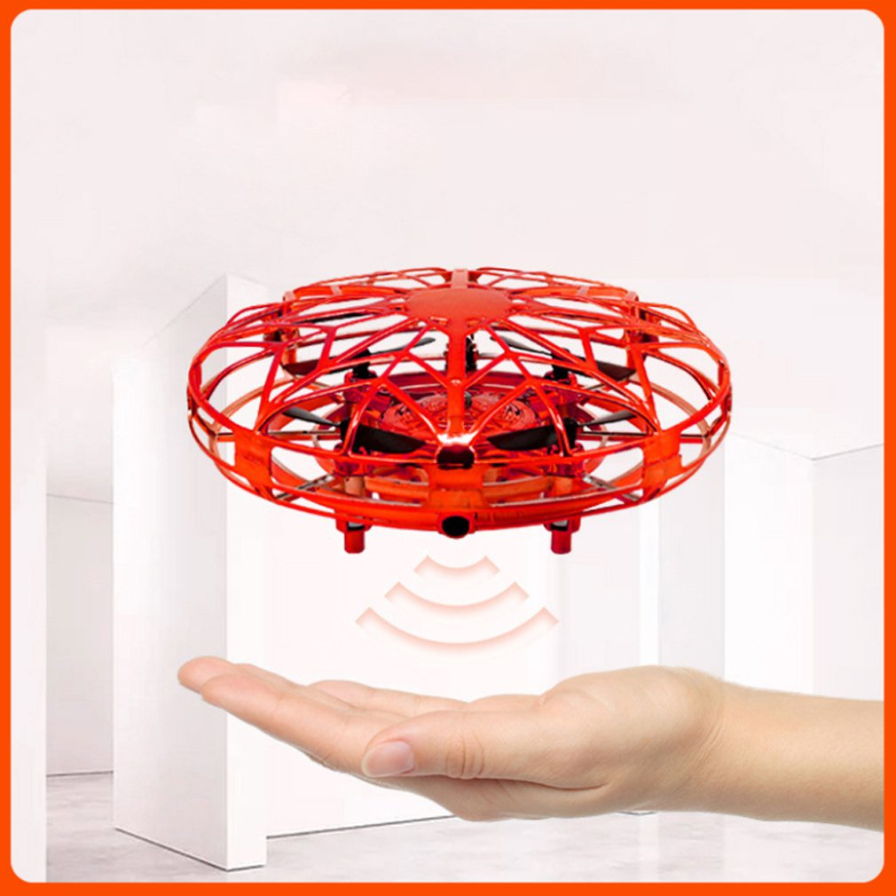 colorful mini drone shinning led rc drone flying ball helicopter light crystal ball induction dron quadcopter aircraft kids toys Mini Drone UFO Hand Operated RC Helicopter Quadrocopter Dron Infrared Induction Aircraft Flying Ball Toys For Kids