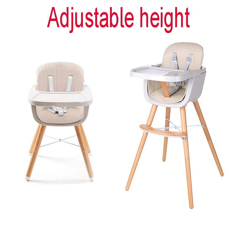كرسي طعام للأطفال كرسي أطفال حزام أمان مقعد تغذية رعاية الطفل قابل للتعديل ارتفاع الغداء كرسي مرتفع للأطفال أكثر من 6 أشهر من العمر