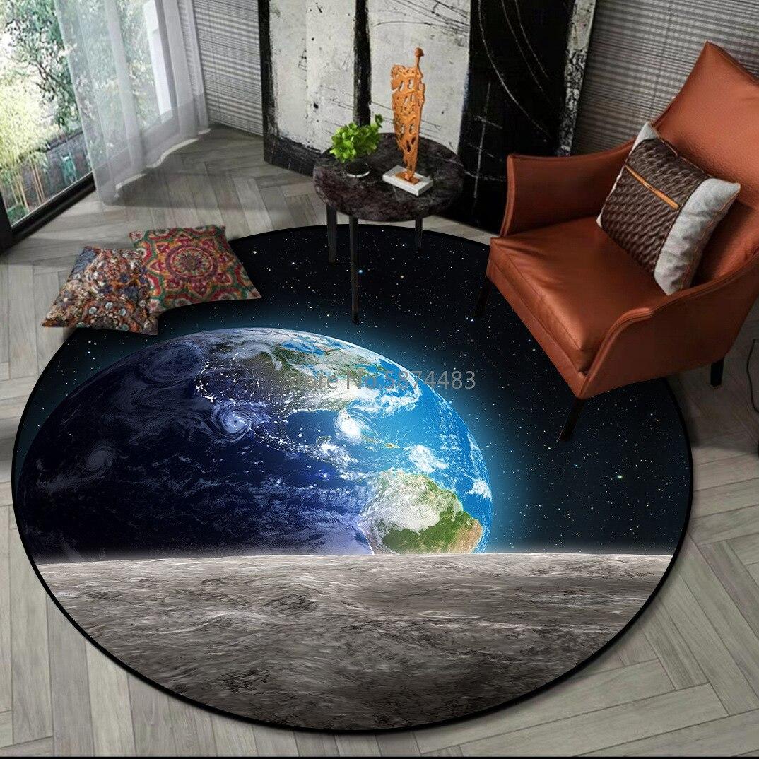200 سنتيمتر الحديثة رائع ليلة السماء الأرض والقمر سطح غرفة نوم غرفة المعيشة سجادة باب عدم الانزلاق السرير سجادة أرضية