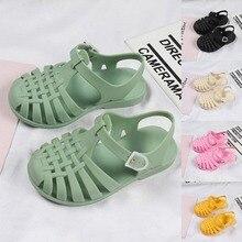 Summer Children Sandals Babys Girls Toddler Soft Non-slip Princess Shoes Kids Candy Jelly Beach Shoe