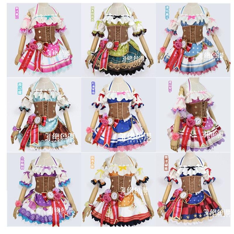 Новая любовь Live! Солнечном свете! Aqours Valentine Idolized Горничной Лолита униформа косплей костюм