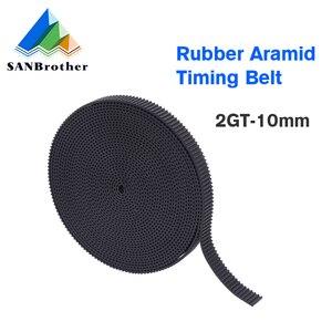 GT2-10mm open timing belt width 10mm GT2 belt Rubbr Fiberglass cut to length for 3D printer wholesale
