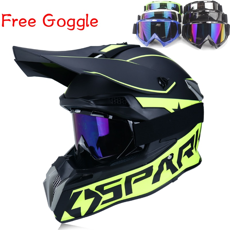 Casco de motocross de cara completa para hombre y mujer, protector de...