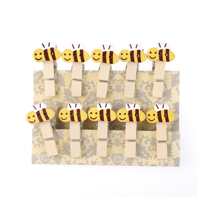 10-uds-clip-de-madera-de-abeja-de-dibujos-animados-foto-papel-pinza-de-ropa-artesanal-clips-decoracion-de-fiesta