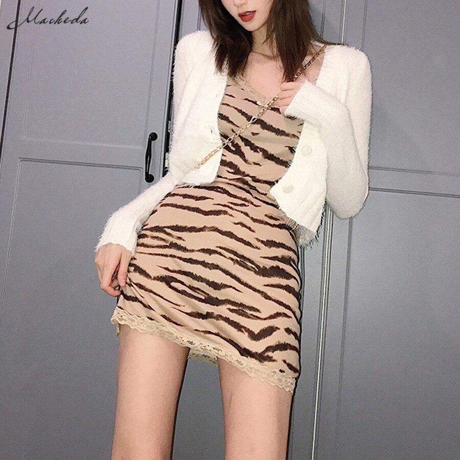 Macheda vestido sem mangas com costas nuas, elegante, feminino, slim, minivestido, casual, para primavera 2020