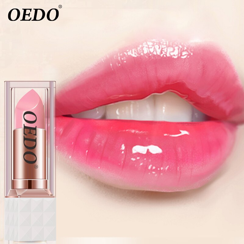 OEDO Peptide Nourishing Colorful Lip Balm Repair Damaged Lip Reduce Lip Wrinkle Moisturize Peeling Removal Anti-chapped Lip Care