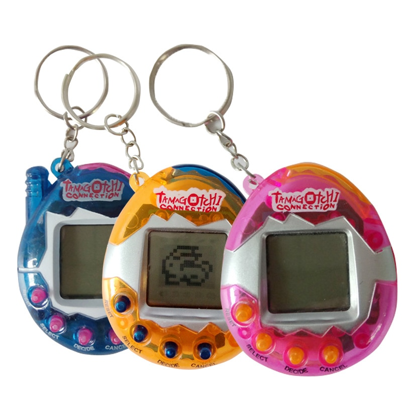 1PCs Transparent Tamagotchi Electronic Pets 90S Nostalgic 49 Pets In One Virtual Cyber Toy Virtual Toys Electronic Robot Dog