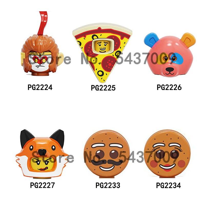PG2226 PG2227 PG2233 MG0005 MG0099 MG00095 фигурка головы MOC строительные блоки кирпичи обучающие игрушки для детей Подарки