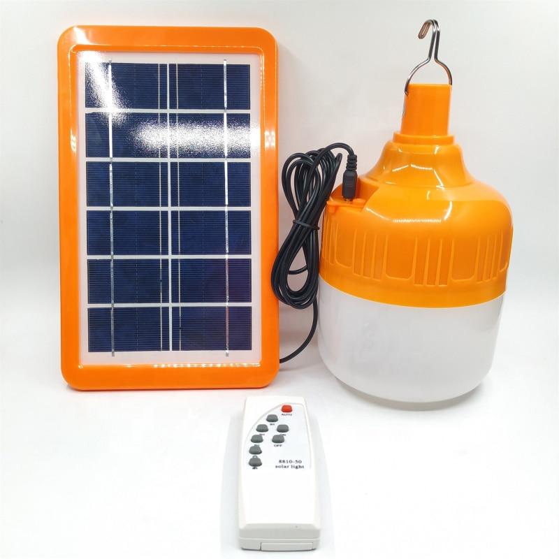 Solar LED Light Bulb 6V 10W 30W 45W Solar Battery Outdoor Camping Fishing Light Night Market USB Rechargeable Emergency Light