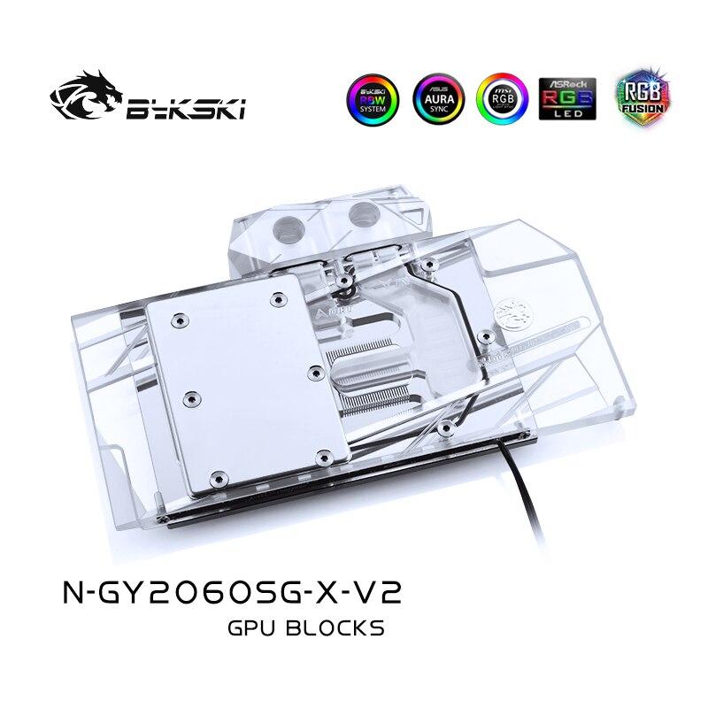 BYKSKI Gpu Water Block Use for Galaxy GeForce RTX 2070/2060/1660Ti/1660 /Gainward Support A-RGB/RGB LED Light N-GY2060SG-X-V2