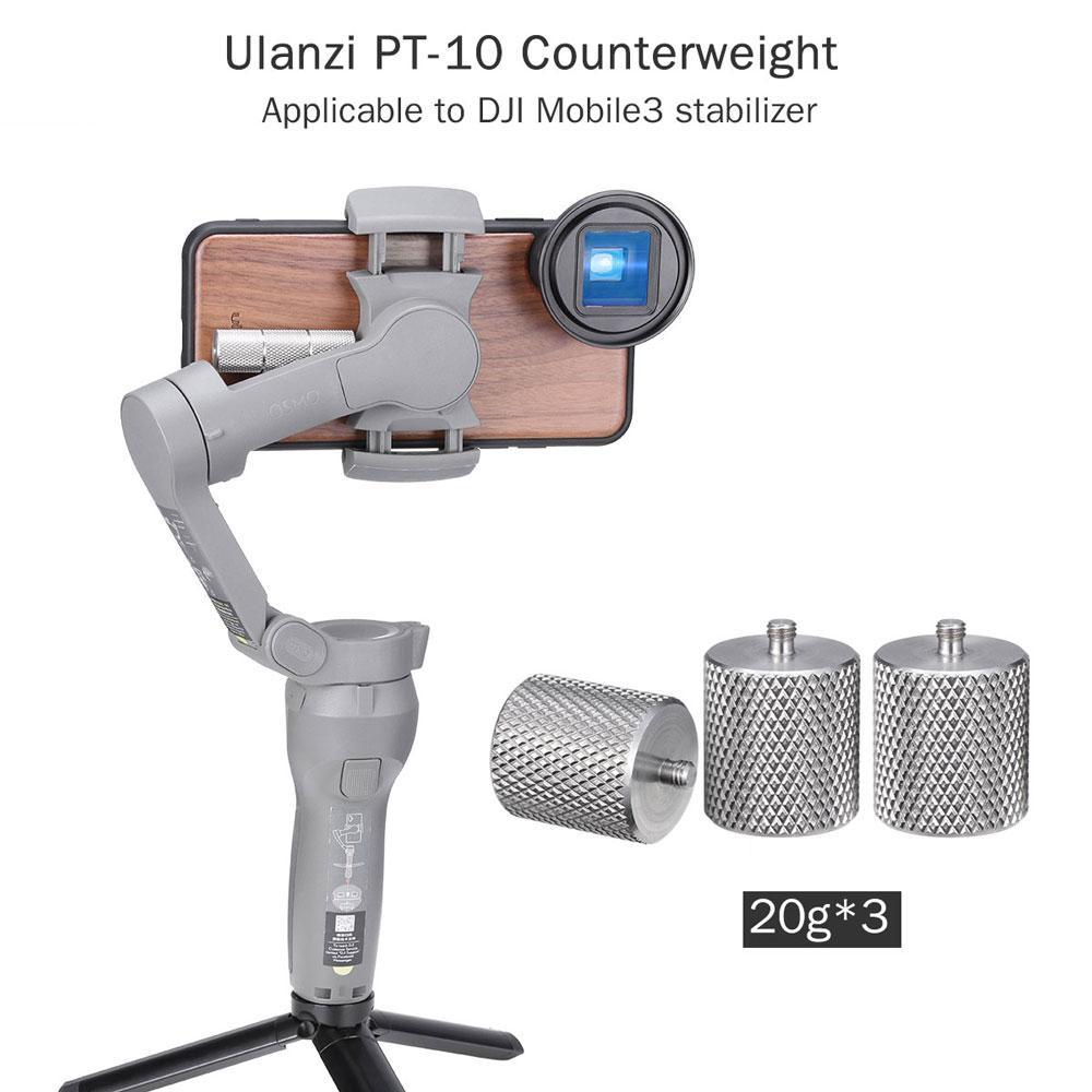 PT-10 металлический Счетчик вес для DJI Osmo Mobile 3 Счетчик вес стабилизатор приложенный баланс на момент анаморфный объектив
