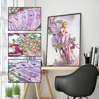 5d diy diamond painting butterfly fairy 3d shaped diamond embroidery set cross stitch special shape diamond mosaic