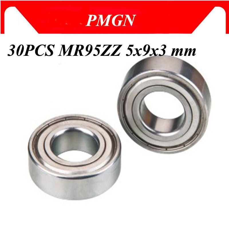 30 pçs/lote ABEC-5 L-950ZZ mr95zz mr95z MR95-2Z mr95 zz 5x9x3mm selo de metal em miniatura alta qualidade rolamento de esferas sulco profundo