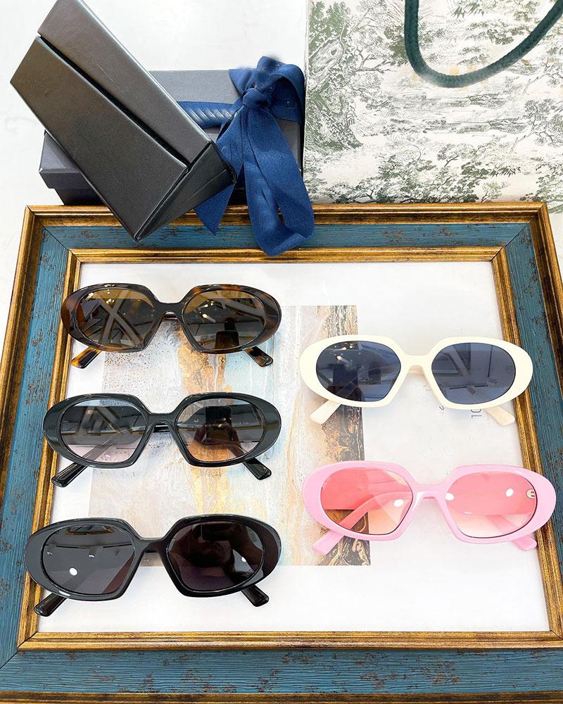 فرنسا 2021 نساء موضة صغيرة الوجه خلات إطارات النظارات الشمسية Bobbyr2u فاخر UV400 خمر نظارات العين مع الصندوق الأصلي