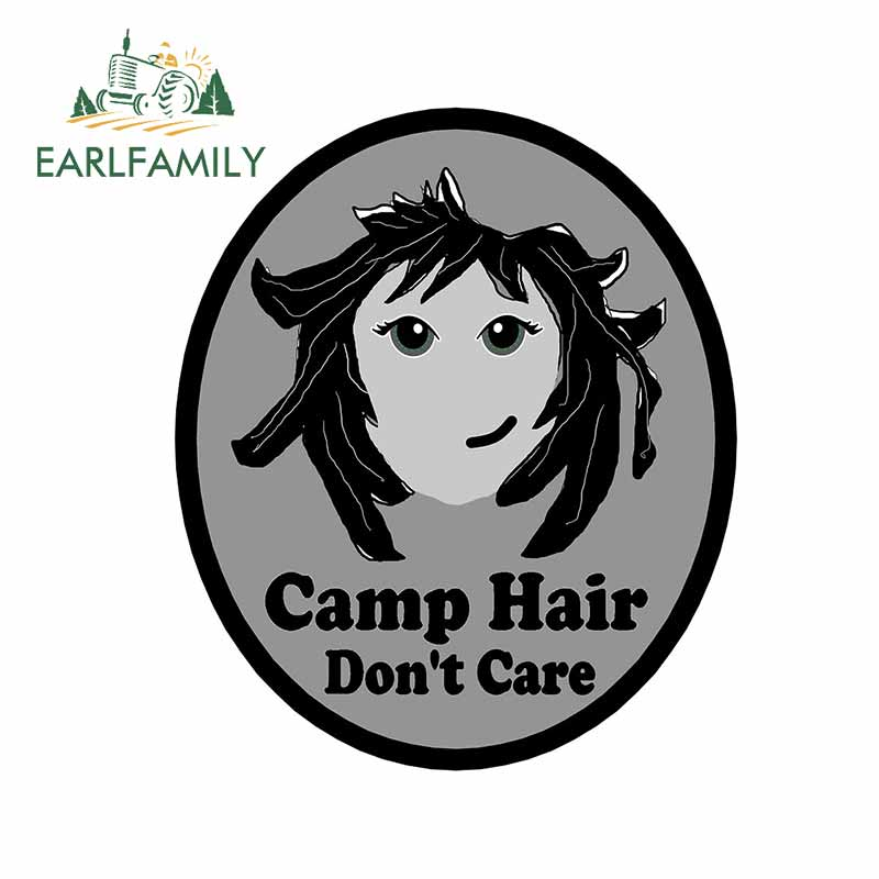 EARLFAMILY 13cm x 11cm For Camp Hair Don't Care Fine Car Stickers Waterproof Creative Decal Vinyl Ca