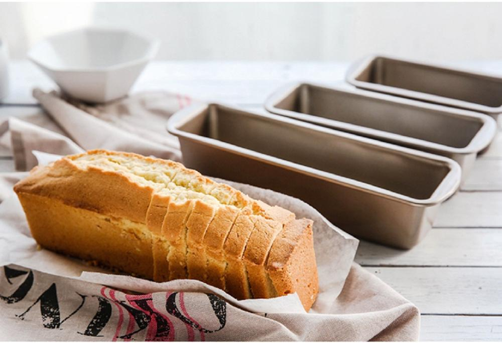 Tira dorada molde para pan tostado antiadherente Pound pastel tostado caja antiadherente horno hornear