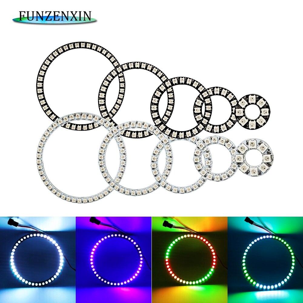 lndividul AddressabIe WS2812B PixeI Ring 8/16/24/35/45Leds 5050 RGB Led Ring WS2812 IC BuiIt-in Led