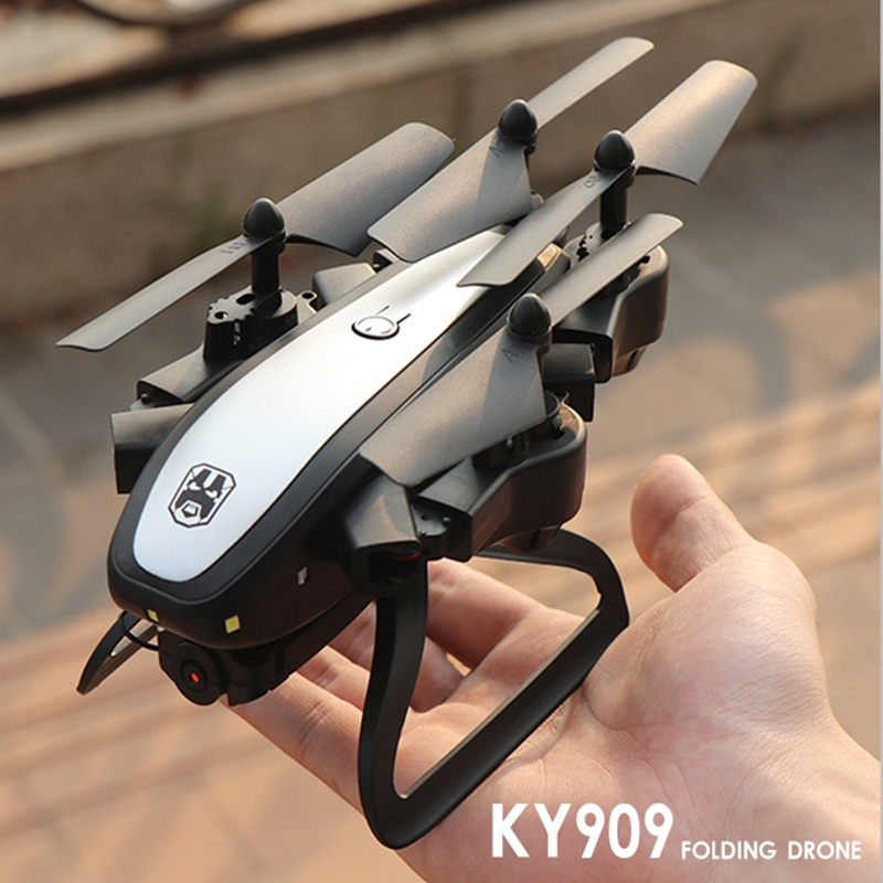 Mini ky909 dobrável rc zangão com câmera 4 k 0.3mp 5mp hd wifi fpv helicóptero fluxo óptico rc quadcopter profissional brinquedos dron