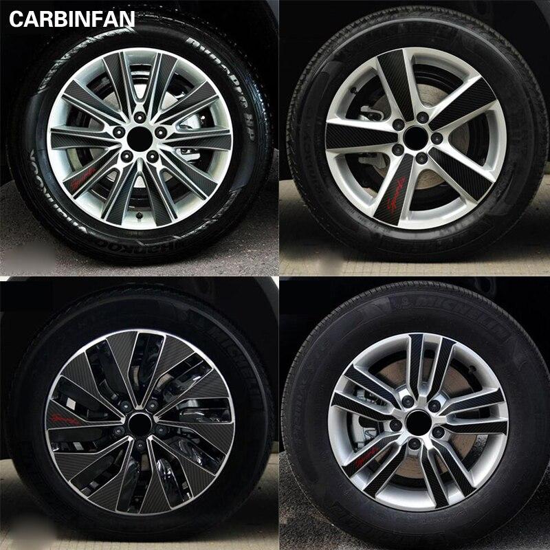 16 17 18 inch Carbon Fiber Wheel Rim Sticker Wheel Hub Waterproof sticker For Volkswagen VW Tiguan 2012 2013 2014 2015