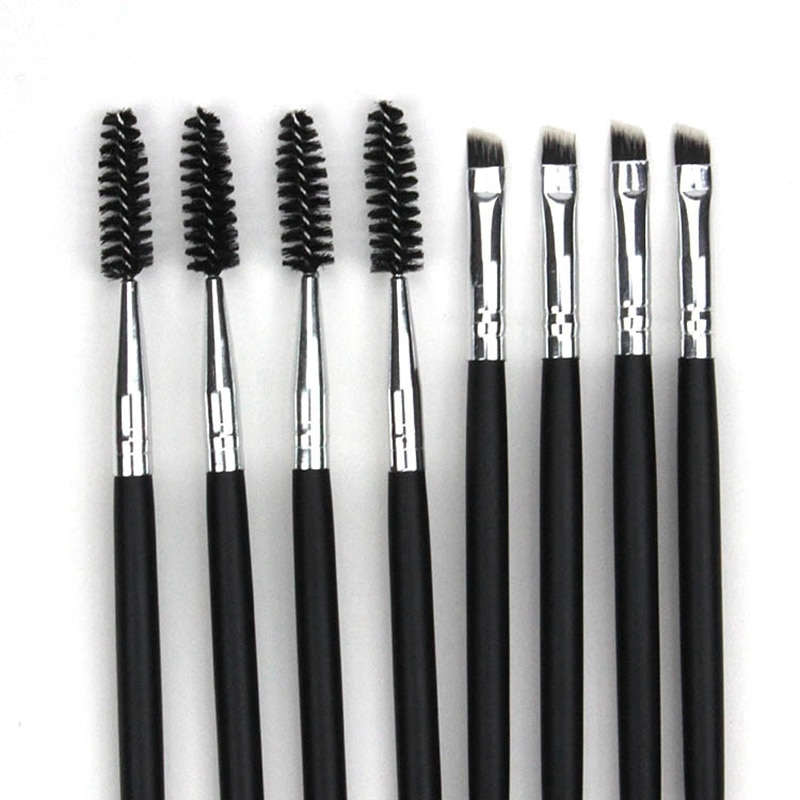 1pcs Double Ended Eye Makeup Brush Eyebrow Eyelash Brushes Wooden Handle Blending Eye Mascara Cosmet