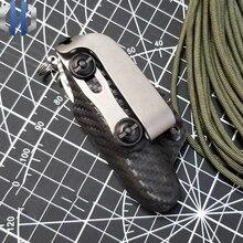 Left And Right Slot Titanium Back Clip Waist Clip Screws Gear Slotted Ti Clip 6al4v