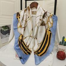 Silk Scarf Women Shawls Wraps Fashion Small Hair Neck Hijabs Foulard Scarves Female Lady bufanda sed